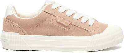 Rocket Dog CHEERY Nubuck Ladies Womens Casual Lace-Up Trainers Soft Pink