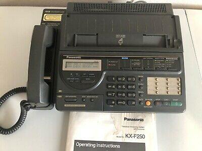 Vintage Panasonic KX-F250 Telephone Answering Machine System with Fax