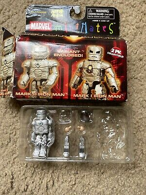Marvel Minimates Series 21 Iron Man Movie Mark I Iron Man /& Mark II Variant