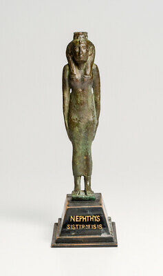 Ex Christie's Large Ancient Egyptian Bronze Figure of Isis Late/Ptolemaic Period