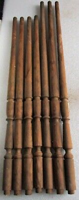 "Antique Pine Wood Stair Porch Spindles Balusters 28 1/2"" - 32 1/2"" high LOT of 7"