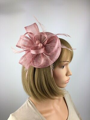 Light Pink Fascinator Pink Wedding Occasion Hatinator Mother Of The Bride Races