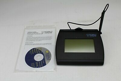Topaz SigGem Backlit LCD 4x3 Signature Capture Pad USB Backlit T-LBK755-BHSB-R