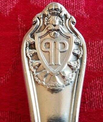 Plaza Hotel NYC Silver Dinner Spoon (Raised Logo) by Gorham Silver Co - Nice!