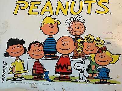 1961 Peanuts Tray with entire gang by Charles Schulz