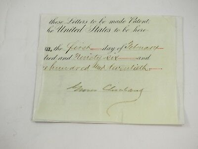President Grover Cleveland Signed commission Cutout 1896 Authentic Guaranteed
