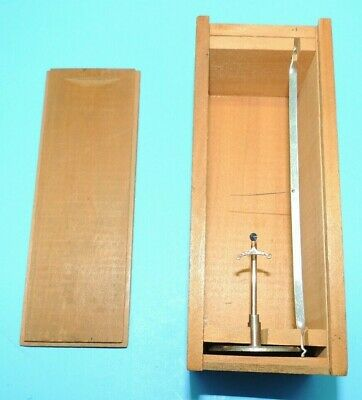 Vintage Coats Watchmakers BALANCE SCREW SCALE Watch Tool & Box USA