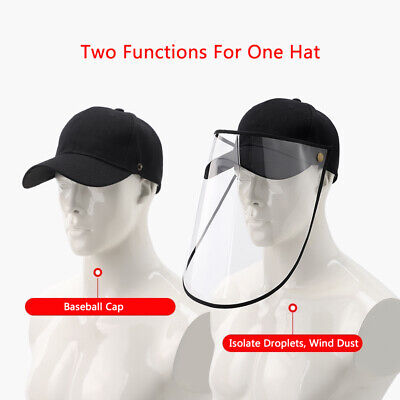 Hat-Mounted Transparent Hat Anti-fog Saliva Face Shield Eye Protective