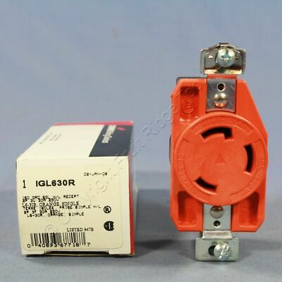 Cooper Isolated Ground Single Locking Receptacle NEMA L6-30R 30A 250V IGL630R