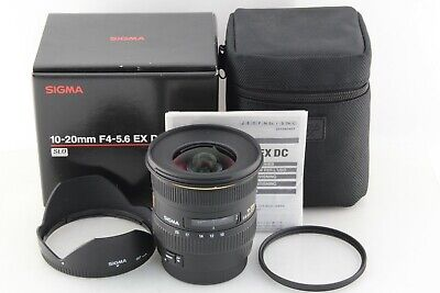 Near Mint SIGMA EX 10-20mm F/4-5.6 DC HSM lens For Canon