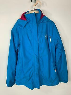 Girls Karrimor Blue Light Weight Casual Hood Rain Coat Jacket Kids Age 13 Yrs