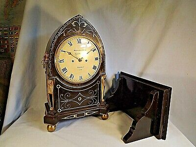 """Rare"" Quarter Strike On 2 Bells Twin Fusee London Regency Bracket Clock C1820."
