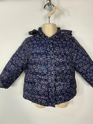 Girls Zara Baby Blue&Pink Casual Winter Padded Rain Coat Jacket Kids Age 12/18 M