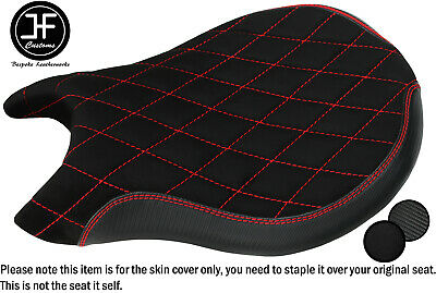 Dsg6 Carbon Suede Vinyl Red St Custom For Ducati 848 1098 1198 Front Seat Cover