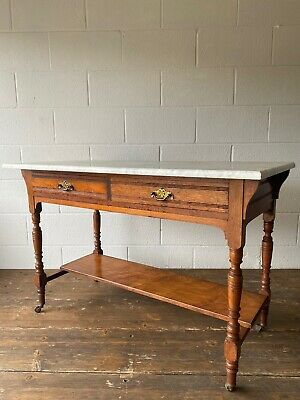 Victorian Marble Top Washstand Table