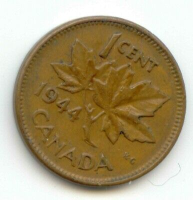 Canada 1944 Canadian PENNY one cent King George VI 1c         EXACT COIN SHOWN .