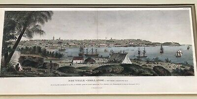 FABULOUS 1803 hand-colored engraved view of SYDNEY AUSTRALIA Charles-Alexandre L