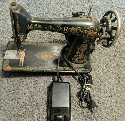 Vintage Singer Portable Sewing Machine  CAT BZ 15-8   S.S. AU-52-16-6