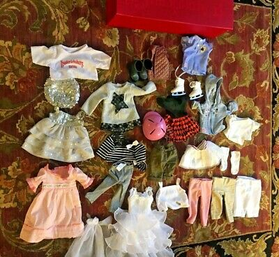 American girl doll clothes lot, bridal dress ,fancy dress,boots,pants ,hat....