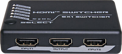 Switcher Hdmi 5 In 1 Out V2.0