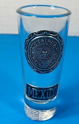 Mayan Mexico Emblems Clear Shot Glass