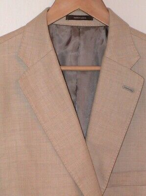 Peter Millar Blazer Sport Coat Jacket Mens Wheat color 42R Linen Wool Two Button
