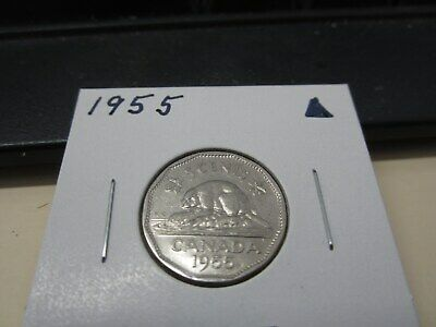 1955 - Canadian nickel - Canada 5 cents -