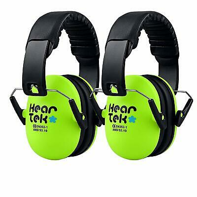 TWO-PACK Kids Earmuffs Hearing Protection with Travel Bag Adjustable Protectors