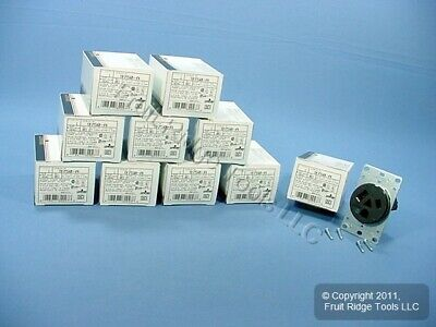 10 Leviton Straight Blade Receptacle Power Outlets NEMA 7-50R 50A 277V 9750-A