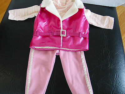 Authentic American Girl Doll Ski Trip Outfit Pink Shell, Tee, Pink Pants 3 pc