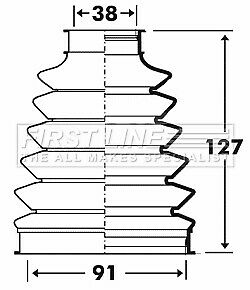 New Right 2.0 2.0D 07 to 15 C.V FORD MONDEO Mk4 CV Joint Boot Kit Front Inner