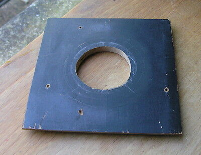 "Burke & James 4x4""  wooden  lens board  38mm irregular hole"