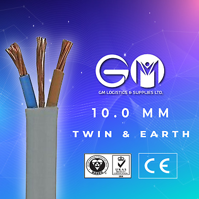 10mm Twin and Earth T&E Electric Cable Wire Domestic High Power Cooker Shower