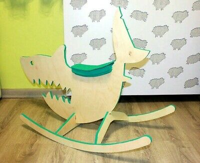 DXF,CDR File Laser Cutting CNC Router Laser Cut CNC Children Rocking Chair