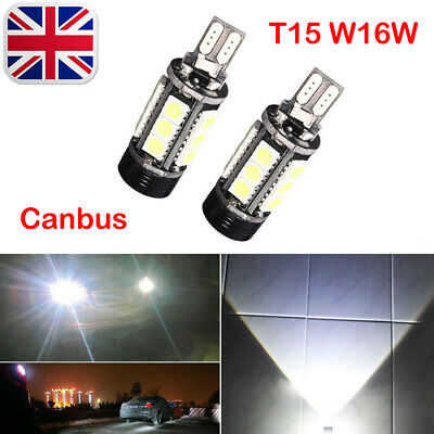 2X T15 W16W  Led Canbus Error Free Projector Reverse Light Bulbs Lampe 12V 7.5W