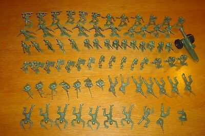 """Well Pack Box 24 Giant Green Plastic Army Men Toy Soldiers Large 4.5"""" Tall"""