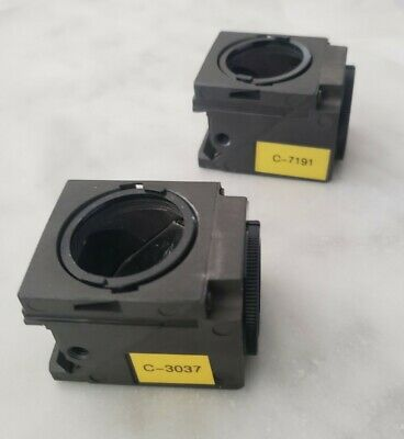 Two Nikon Te Eclipse Fluorescence Filter  Cubes Dichroic Mirror Only, for PARTS