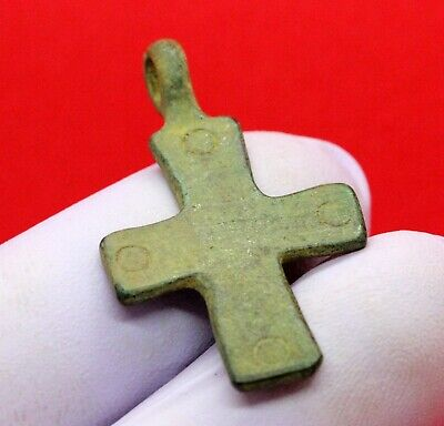 Ancient Roman Bronze Cross 400-500Ad