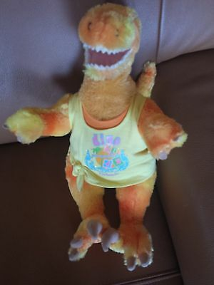 Build a Bear Workshop BABW Stuffed Plush Orange Yellow Dinosaur 17""