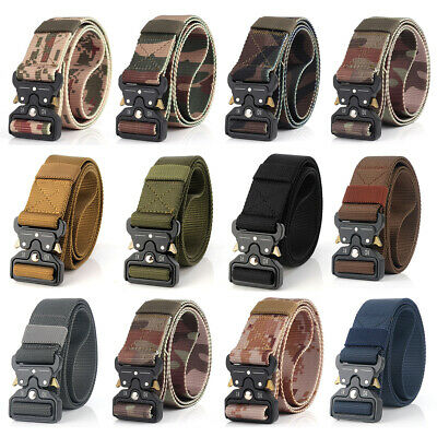 Casual Military Tactical Belt Mens Army Combat Waistband Rescue Rigger Belts HOT