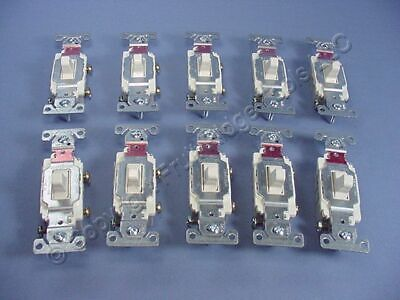 10 Cooper Light Almond COMMERCIAL 1-Pole ON/OFF Toggle Light Switch 20A CS120LA