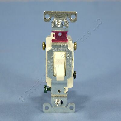 Cooper Almond COMMERCIAL Toggle Wall Light Switch 3-WAY 20A 120/277V Bulk CS320A