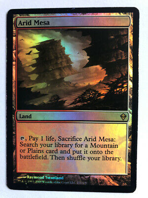 Mtg Magic the Gathering Zendikar Arid Mesa FOIL
