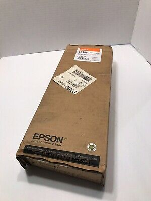 GENUINE EPSON ORANGE HDR INK T636A STYLUS PRO 7900/9900 ULTRACHROME 700ml NEW