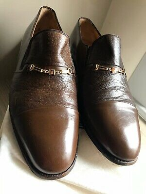 Moreschi Carbon Peccary Brown Calf Shoes 7