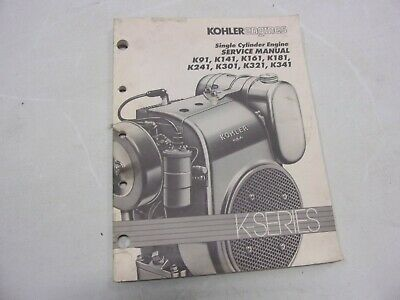 Kohler Engine Service Manual K91 K141 K161 K181 K241 K301 K321 K341