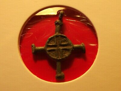 Antique Viking 11th Brass Grey cross pendant Authentic Cross Christian 1.91 gr