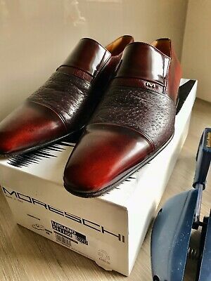 Moreschi Lugano Burgundy Peccary Shoes 7