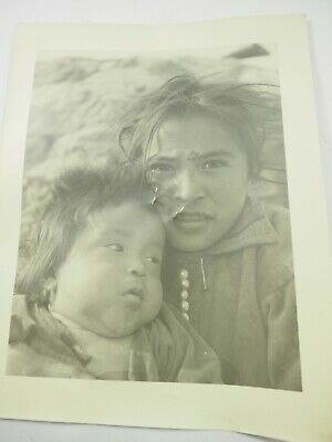 """Barry Goldwater Signed and Titled """"Navajo Children"""" B&W Photo 11"""" x 14"""""""