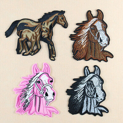 EQUESTRIAN HORSE IRON ON PATCH APPLIQUE  3 1//8 X 3 3//8 inch